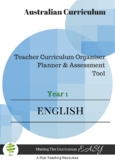 Australian Curriculum  English TEACHER ORGANISER - Year 1