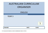 Australian Curriculum Organiser English (editable)- Y3 FRE