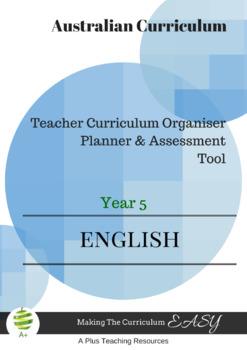 Australian Curriculum  English TEACHER ORGANISER - Year 5