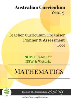 Australian Curriculum  Maths TEACHER ORGANISER - Year 3