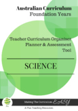 Australian Curriculum Organiser Science  Foundation