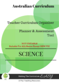 Australian Curriculum Organiser Science YEAR 1