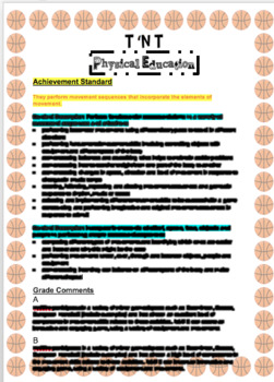 Australian Curriculum Physical Education Report Comments End of Year 2