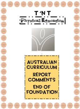 Australian Curriculum Physical Education Report Comments Foundation Year