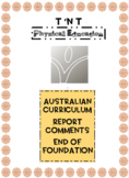 Australian Curriculum Physical Education Report Comments F