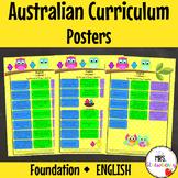 Foundation Australian Curriculum English Posters