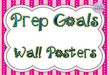 Australian Curriculum Prep Goals Wall Posters
