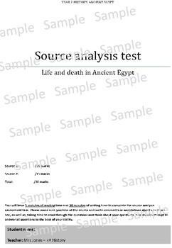 Australian Curriculum - History - Year 7&  8 editable source analysis template