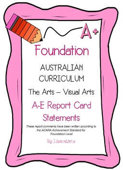 Australian Curriculum Report Comments Foundation Level - The Arts - Visual Arts