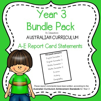 Australian Curriculum Report Comments-Foundation to Year 6 Mega Bundle Pack