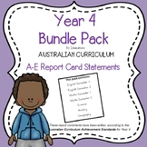 Australian Curriculum Report Comments - Year 4 Bundle Pack