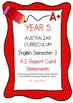 Australian Curriculum Report Comments - Year 5 Bundle Pack