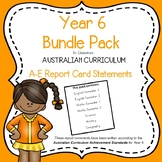 Australian Curriculum Report Comments - Year 6 Bundle Pack