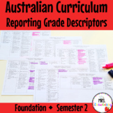 Foundation Australian Curriculum Reporting Grade Descripto