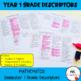 Australian Curriculum Reporting Grade Descriptors - Year 1
