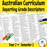 Year 2 ENGLISH AND MATHS Australian Curriculum Reporting Grade Descriptors Sem 2