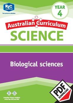 Australian Curriculum Science: Biological sciences – Year 4