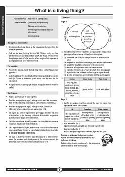 Australian Curriculum Science: Biological sciences – Year 5