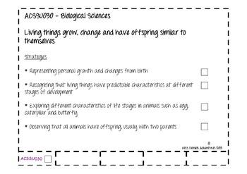 Australian Curriculum Science Flap Book Yr 2