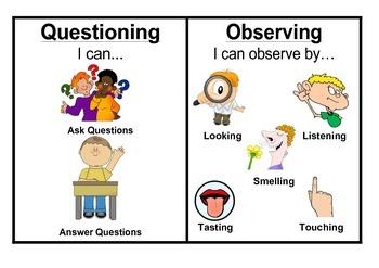 Australian Curriculum Science Skills - Prep