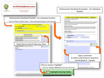 Victoria Curriculum Teacher Tool Maths Checklists  Level 5