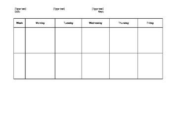 Australian Curriculum Thematic Unit Planner