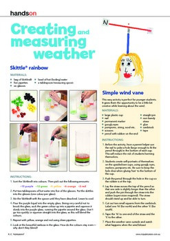 Australian Curriculum Science. Weather craft and printables