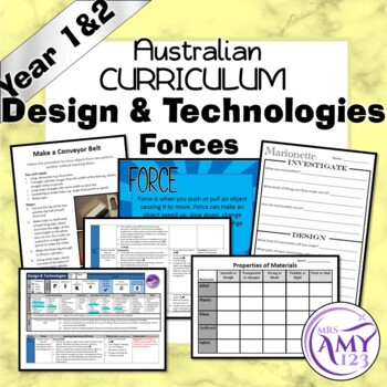 Australian Curriculum Year 1 & 2 Design & Technology Forces Unit