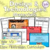 Australian Curriculum Year 1 & 2 Design & Technologies Materials Unit