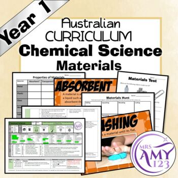 Australian Curriculum Year 1 Chemical Science Material Unit