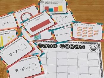 Australian Curriculum Year 1 Maths Review Task Cards