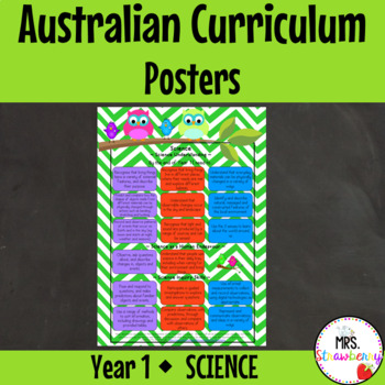 Year 1 Australian Curriculum Posters - Science