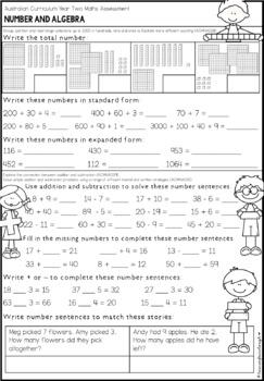Australian Curriculum Year 2 Maths Test