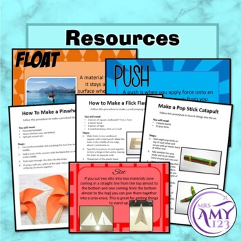Australian Curriculum Year 3/4 Design and Technology Materials & Forces Unit