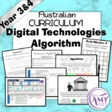 Australian Curriculum Year 3/4 Digital Technologies Algorithm Unit