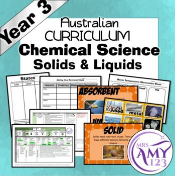 Australian Curriculum Year 3 Chemical Science Solid & Liquids Unit