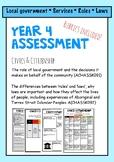Australian Curriculum Year 4 Civics and Citizenship Assessment