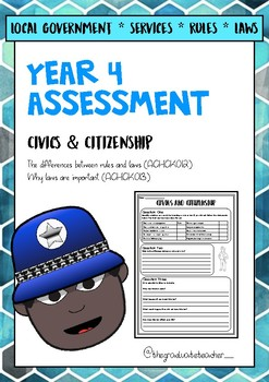 Australian Curriculum Year 4 Civics and Citizenship Assessment - Rules/Laws