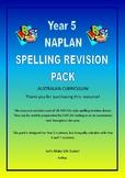 Australian Curriculum Year 5 NAPLAN Spelling Revision Pack