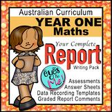 Australian Curriculum: Year 1 MATHS ASSESSMENT & REPORT COMMENTS