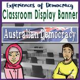 Australian Democracy Classroom Display Banner