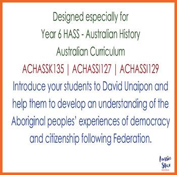 Australian Democracy - David Unaipon Activity Pack