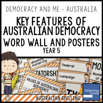 Key Features of Australian Democracy Word Wall and Posters (Year 5 HASS)