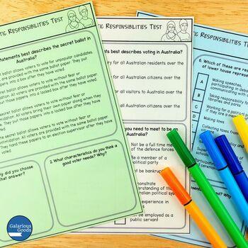 Australian Democratic Responsibilities Assessment (Year 6 HASS)