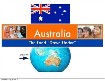 Art Presentation: Australian Down Under Dot Painting