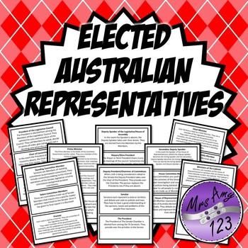 Australian Elected Representatives Role Cards