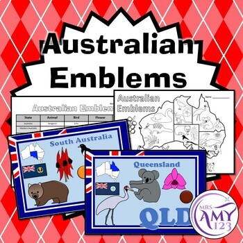 Australian State and Territory Emblems - Posters, PowerPoint and Worksheets