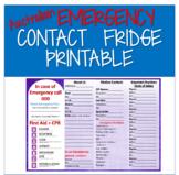 Australian Emergency Contacts Printable