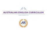 Australian English Curriculum Overview Planner