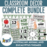 Australian Animal and Eucalyptus Themed Classroom Decor Bundle